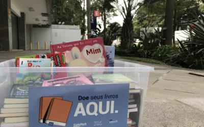 Doe livros na Safe Park e colabore com o Banco de Livros do Estado